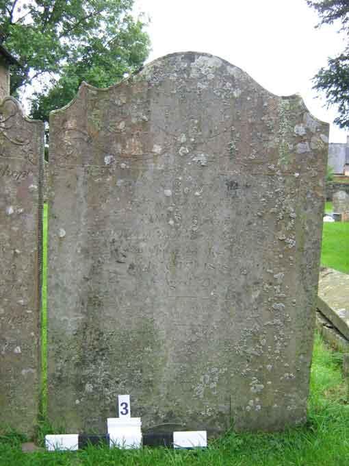 Inscription on west side