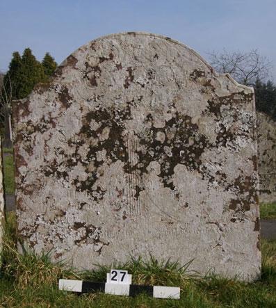 West facing indecipherable inscription