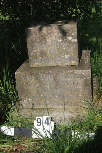 close up of inscription