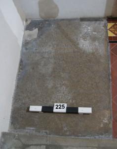 Flat stone on floor