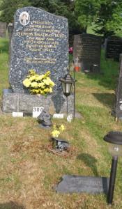 Gravestone and mound
