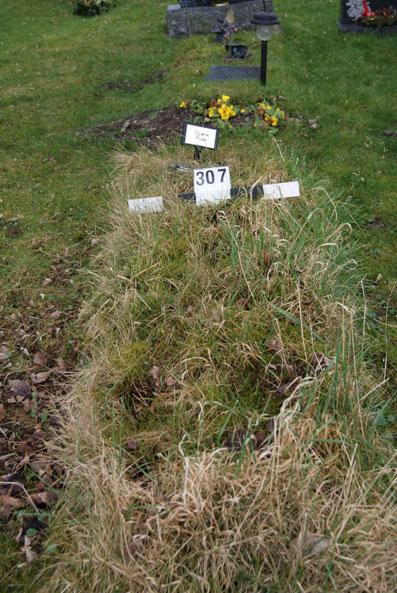 grave of Olwyn Pugh