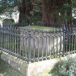 grave with railings