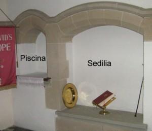 Piscina and Sedilia